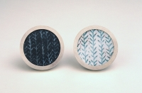 brooches, silver, copper, vitreous enamel, 2004<br />photo credit: Jason Ingram